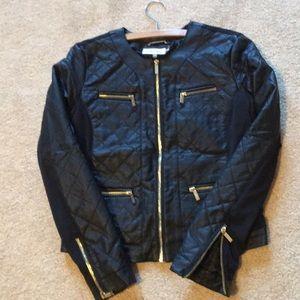 CK Vegan Leather Bomber Jacket